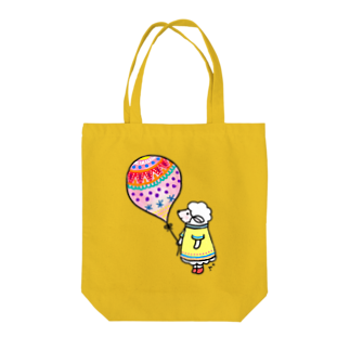 Capricho r*のひつじちゃんと風船 Tote bags