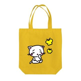 子猫とちょうちょ Tote bags