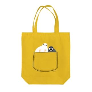 ポケットイン☆ヒメウズラ Tote bags