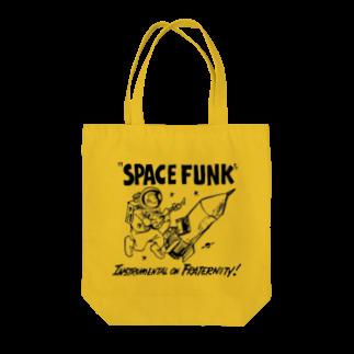D3のSPACE FUNK NEW BK Tote bags