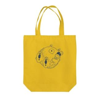 夏を満喫するイエティ【モノクロ】 Tote bags