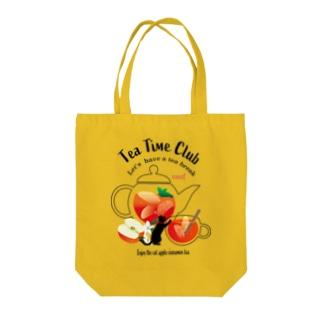 黒猫のティータイムクラブ Tote bags