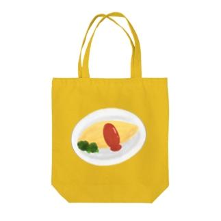 旻天堂(旧 ゆうれい星)の水彩オムライス(皿あり) Tote bags