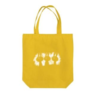三人のうさちゃん(白) Tote bags