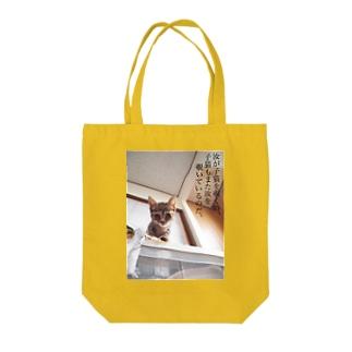 汝が子猫を覗く時、子猫もまた汝を覗いているのだ。 Tote bags
