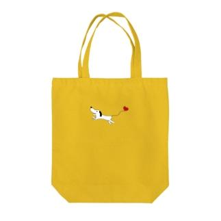 ハートいぬ Tote bags