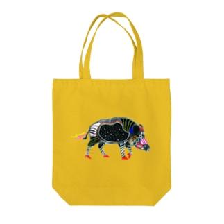 腹ペコ猪、腹宇宙 Tote bags