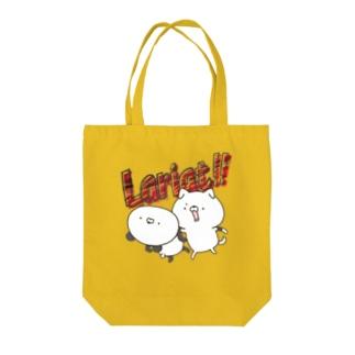 イヌVSパンダ Tote bags