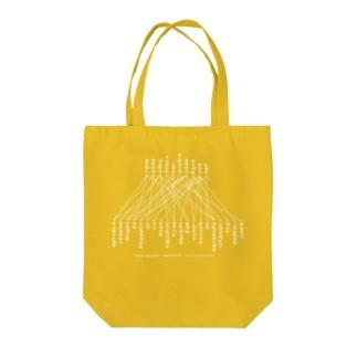 「線で結びなさい」白文字 Tote bags