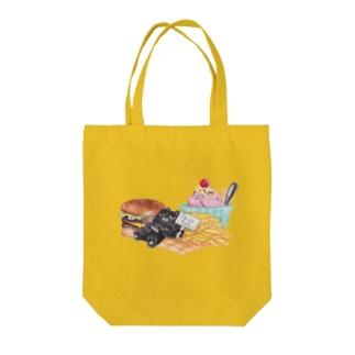 Cuiのお腹いっぱい Tote bags