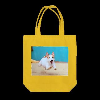 little saltのにこにこジャックさん 飛行犬 Tote bags