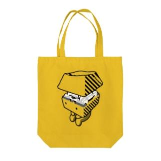 お座りキーキャッピー モノトーン Tote bags