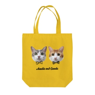 Twins Cats Amelie and Canele Tote bags