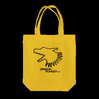 無真獣73号の俊足の龍の布かばん・黒 Tote bags