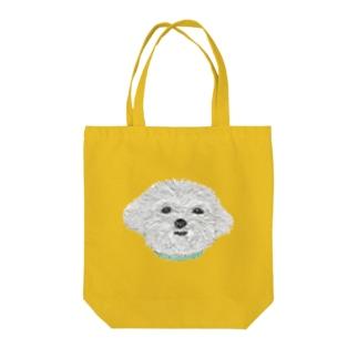 Bless Hue のマルチーズ Tote bags