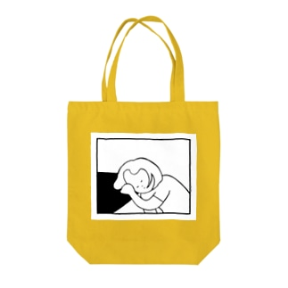 sleeping on the table Tote bags
