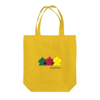 スリー・ミープルズ(ロゴ入横) Tote bags