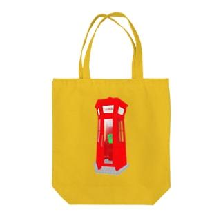赤い電話ボックス Tote bags