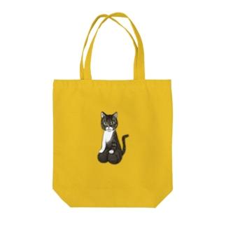 [チャリティ]正座猫_もも Tote bags