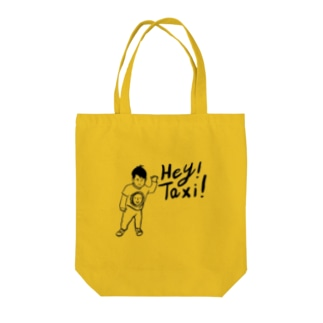 Hey!Taxi! Tote bags