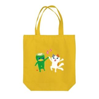 おばけトート<河童と猫又> Tote bags