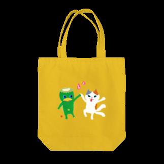 おばけ商店のおばけトート<河童と猫又> Tote bags