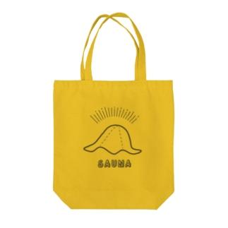 SAUNA_HAT Tote bags