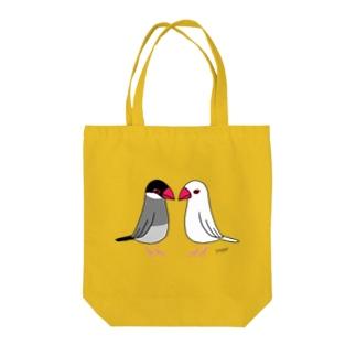 仲の悪い文鳥 Tote bags