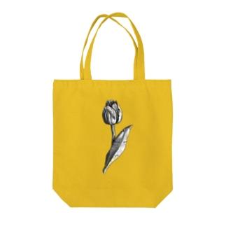 チューリップ(新聞) Tote bags