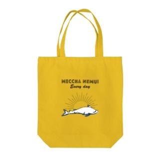 MECCHA NEMUI さめ Tote bags
