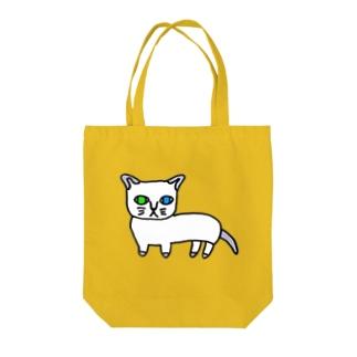 fukumofuの幸せオッドアイ Tote bags
