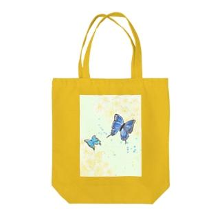 蝶と花 Tote bags