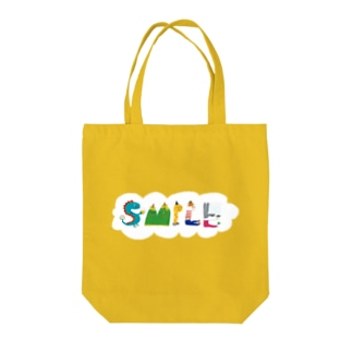 SMILE+背景付きヨコ Tote bags