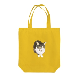 警戒心の強い猫 Tote bags