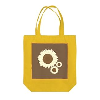 セピア色ひまわり Tote bags