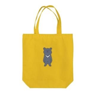 のんびりイラスト商店のツキノワグマ Tote bags