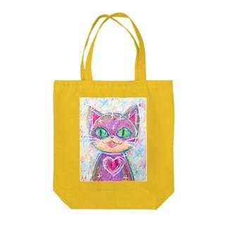 キュートハート・キャット Tote bags