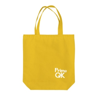 PrimeQK(白文字) Tote bags