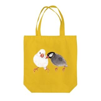 お話する文鳥 Tote bags