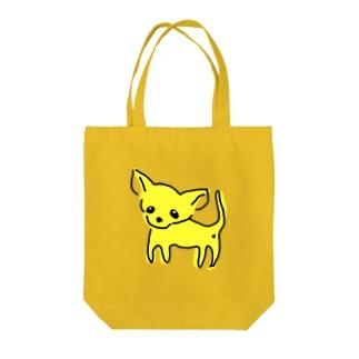 ゆるチワワ(イエロー) Tote bags