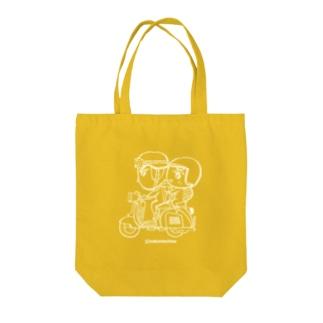 カッパつ野郎(スクーター白) Tote bags