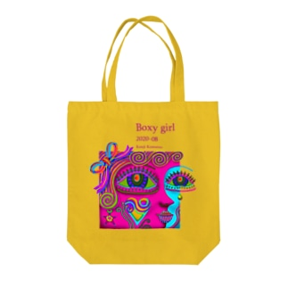 ボクシーなガール-R Tote bags