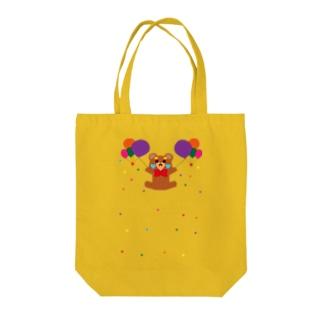 ハートチークマ Tote bags