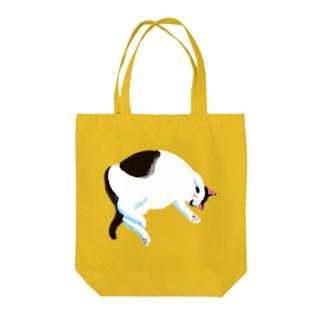昼寝中(黒) Tote Bag