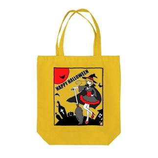 魔女のハロウィンナイト Tote bags