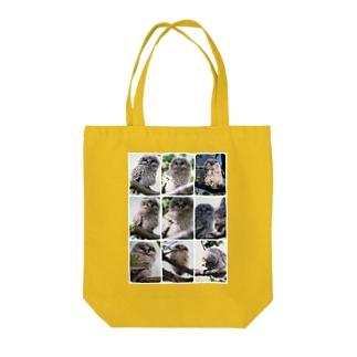 【にこらび】北海道サロベツ原野のエゾフクロウ Tote bags
