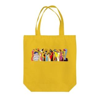 トリダラケ Tote bags
