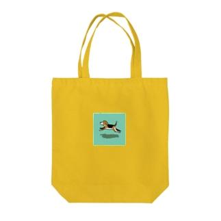 ひゃんひゃん Tote bags