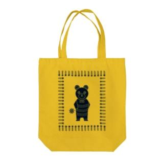 オハナヲドウゾ(クマ)(デイジー・ライム) Tote bags
