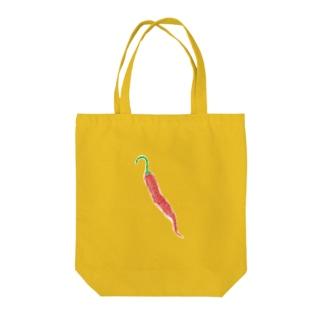 トウガラシの絵 Tote bags